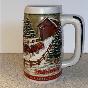 Vintage '84 ANHEUSER BUSH Budweiser Holiday Stein